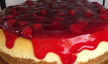 Vanilla Cherry Cheesecake by Lynette Jefferies of My Desserts Diva