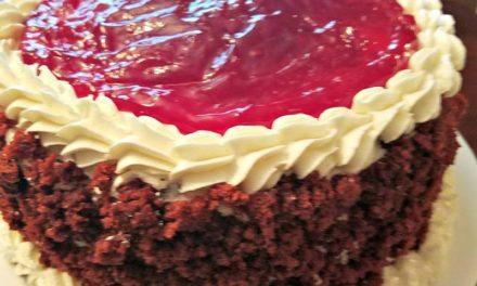 Red Velvet Cherry Cheesecake by Karen Capehart