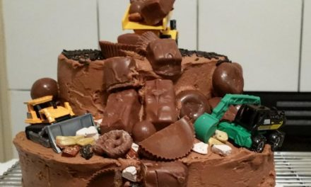 Chocolate Dump Truck Cake by Sylvette Parker