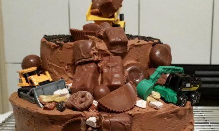 Chocolate Dump Truck Cake by Sylvette Parker