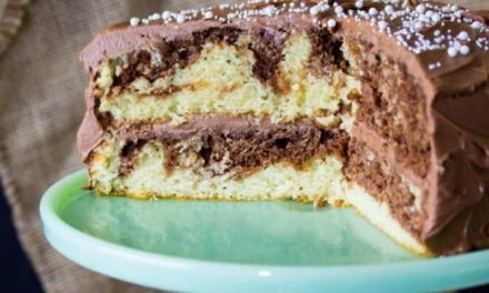 Vanilla and chocolate Marble Cake by Shawna Ackerson