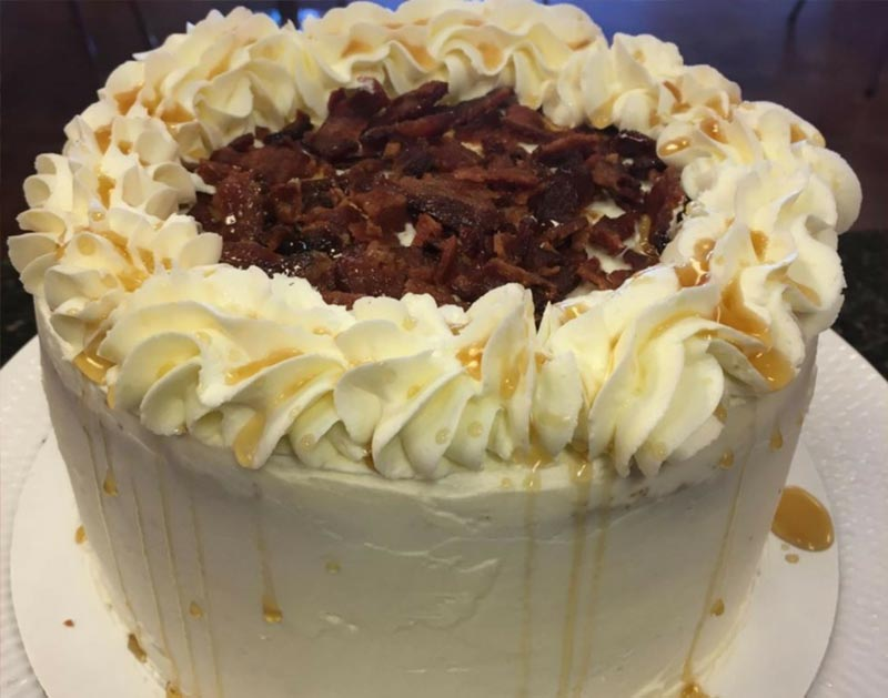 Pancake and Bacon Cake by Sharndell Lowe