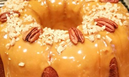 Toffee Caramel Pecan Pound Cake by Sandra Williams Coleman
