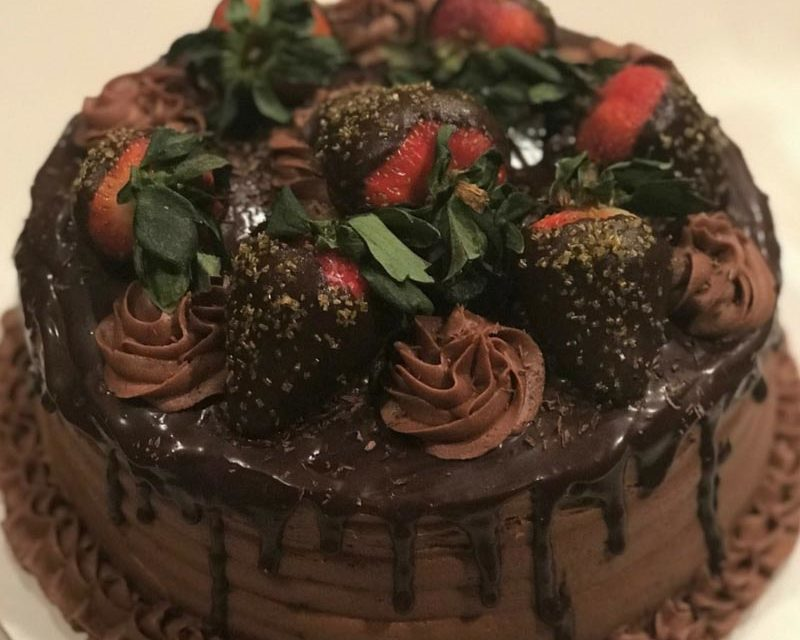 Chocolate Strawberry Dream Cake by Misha Moore