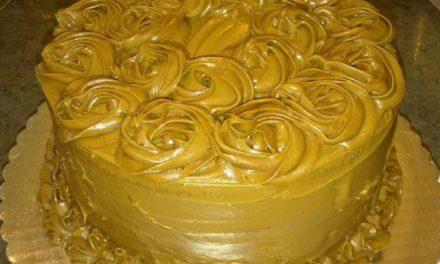 Salted Caramel Cake by La-Tanya Steele