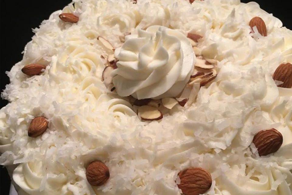 Coconut Almond Cake by Natasha Finch