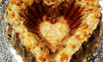 Butter Toffee Cake with Salted Caramel Glaze by Sheryl Campbell