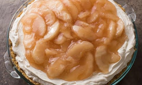 No Bake Apple Caramel Cheesecake Recipe
