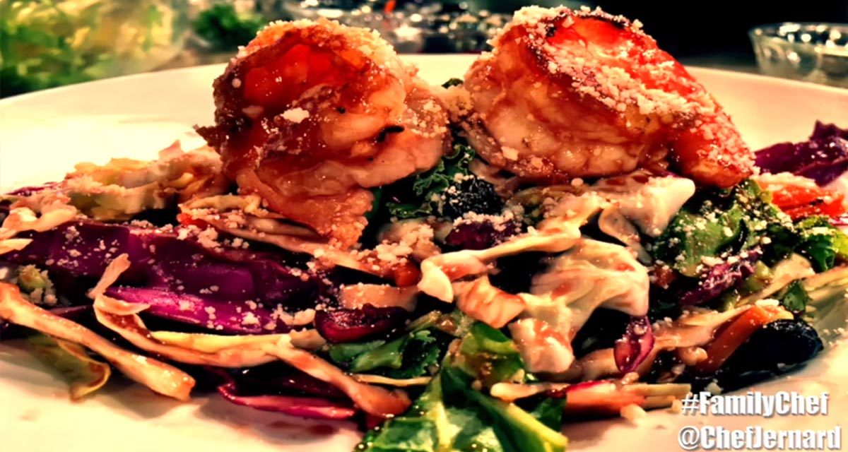 BBQ Shrimp Salad