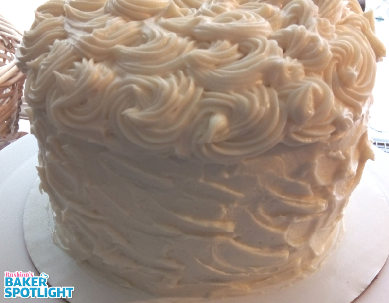 Chocolate Cake with White Chocolate Buttercream Frosting by Linda Green