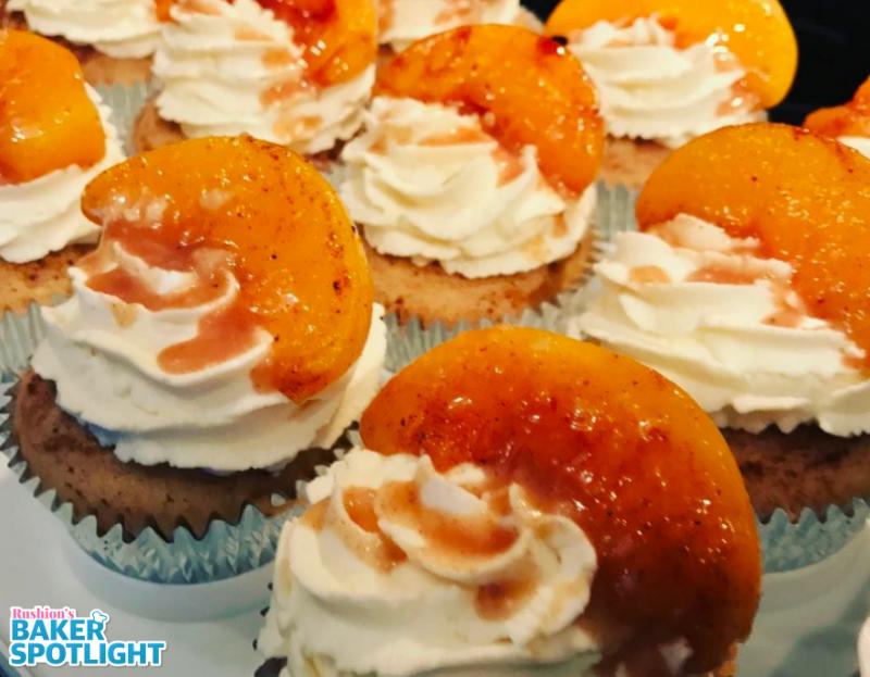 Peach Cobbler Cupcakes by Emtesha Newble