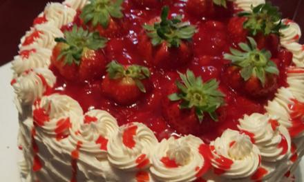 Very Berry Strawberry Filled Cake by Brenda Gary