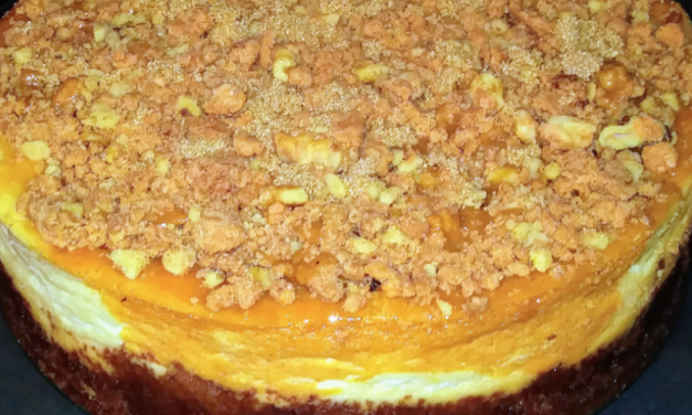Sweet Potato Cheesecake with Walnut Crumble by Andrea Heflin