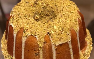 Pistachio Pound Cake by Sharon Thomas
