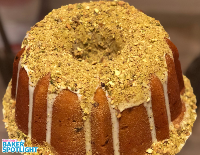 Pistachio Pound Cake by Sharon Thomas