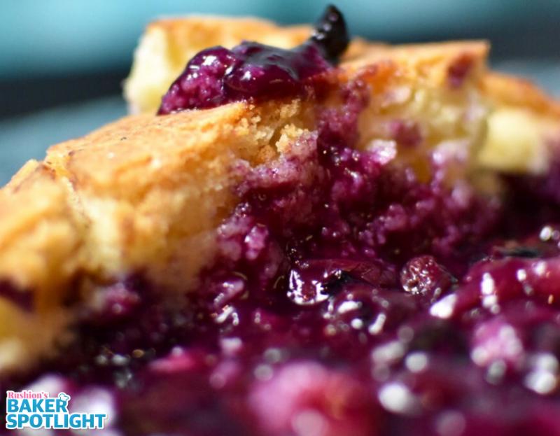 Blueberry Cobbler Cake by Latorra Garland