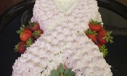 Strawberry Cake for Breast Cancer Awareness Month by Dorothy Rivers