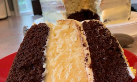 Shut-In Triple Layer Chocolate Lemon Cake with Cream Cheese Frosting by Rebekah Pierce