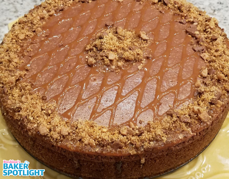 Chocolate Kahlua and Toffee Cheesecake by Melissa Sexson