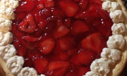 Homemade Cheesecake with Strawberry Topping by Barb Bailey