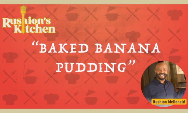 Baked Banana Pudding