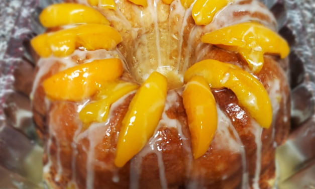 Southern Peach Cobbler Pound Cake by Shay Page