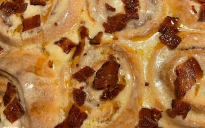 Maple Bacon Cinnamon Buns by Lakisha Thomas